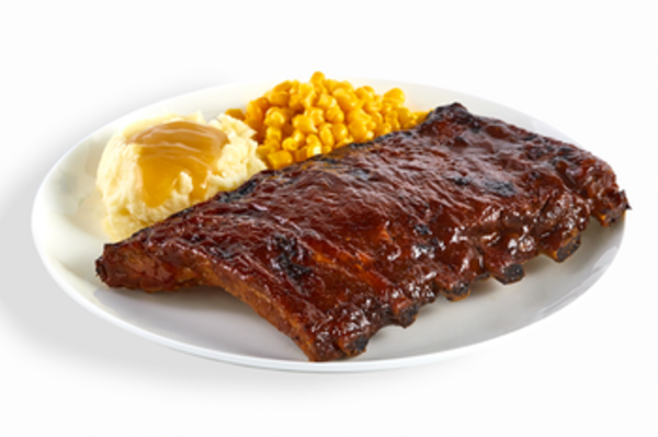 BBQ Ribs Platter Two Sides