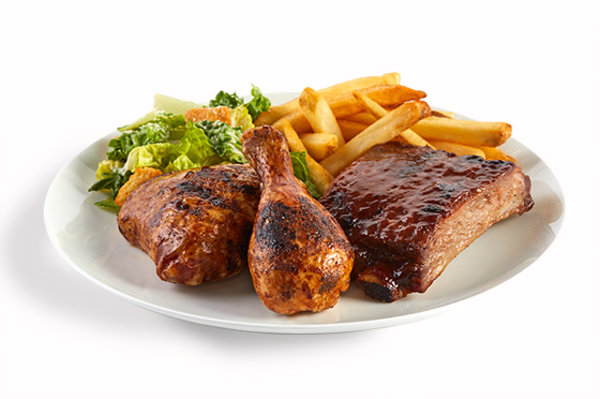 Quarter Chicken & BBQ Ribs Platter