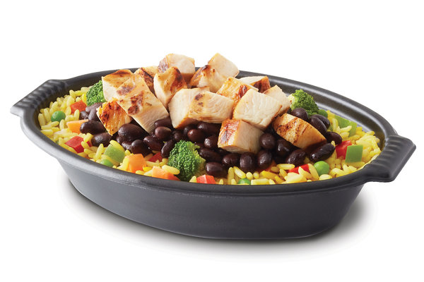 Tropichop Grilled chicken black beans & yellow rice