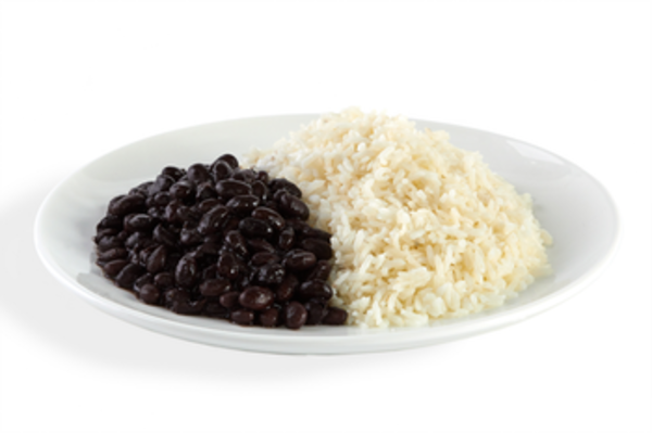 White Rice And Black Beans