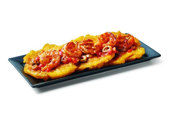 Tostones Shrimp Creole